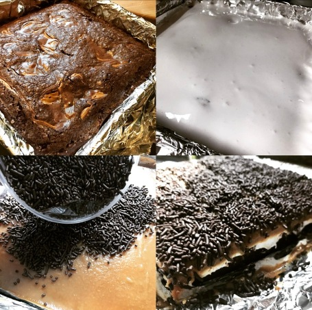 Gooey Brownies Making