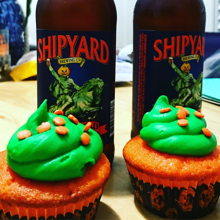 Halloween Cupcakes with Beer