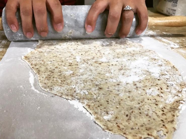 Homemade Crackers Rolling Dough
