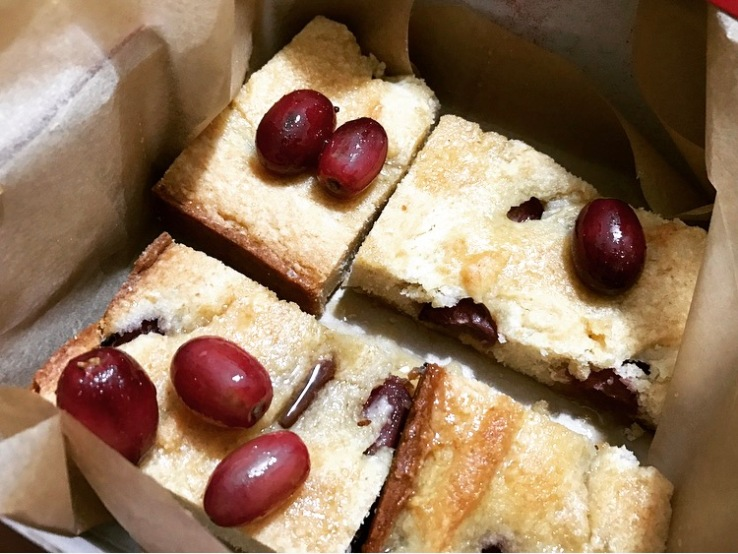 Box Grape Olive Oil Cake Close Up
