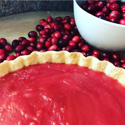 Cranberry Curd Tart Close up