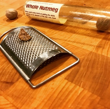 Grating nutmeg